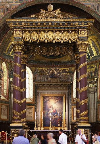Rom, Santa Maria Maggiore, Papstaltar (papal altar)