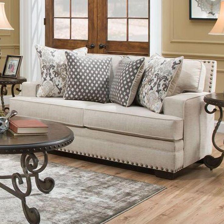 Living Room Set For Under 500: Braxton Cream Chenille Loveseat In 2019