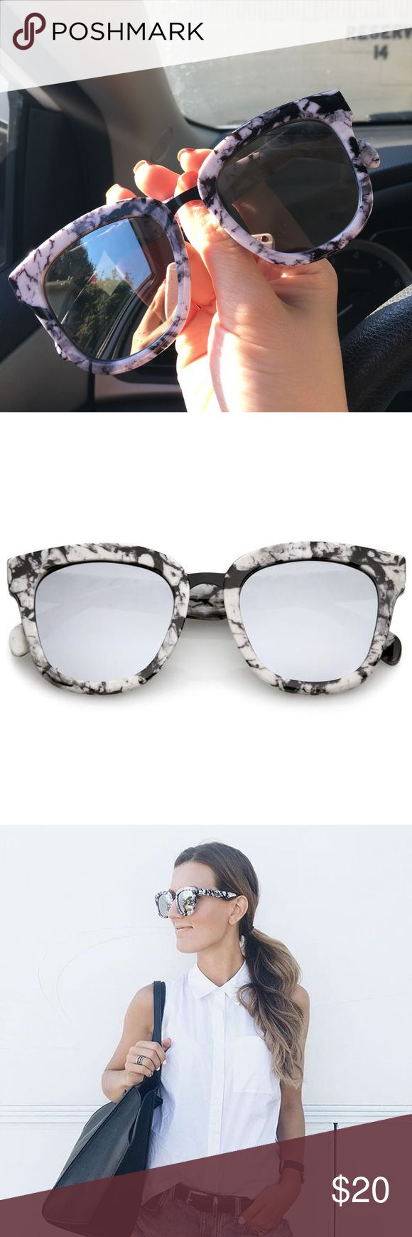 100% UV sunglasses This mirror lens 100% UV sunglasses are so cute and fun and trendy!!! It's a must-have ❤️ Accessories Sunglasses