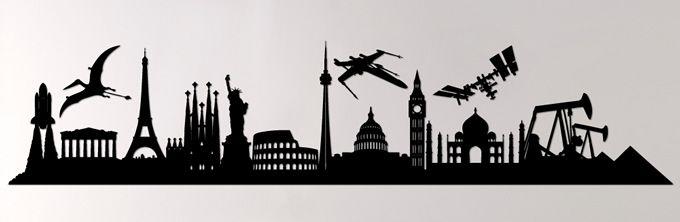 Anche le #città hanno un loro #profilo che le identifica! Quali città riconoscete in questa immagine? :)