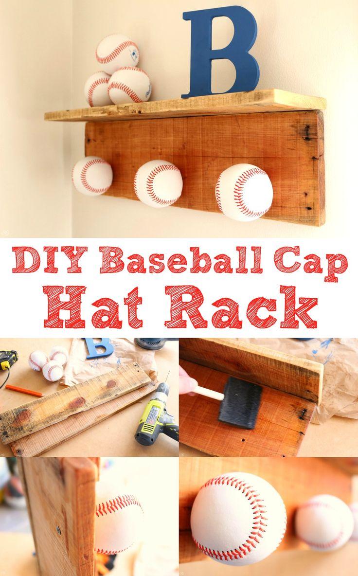 Best 25 baseball cap rack ideas on pinterest baseball for Diy hat organizer