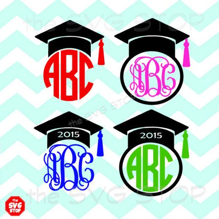 Graduation cap frames SVG and studio files for Cricut, Silhouette, Vinyl Cutters and Screen Printing