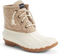Tan waterproof rain boots