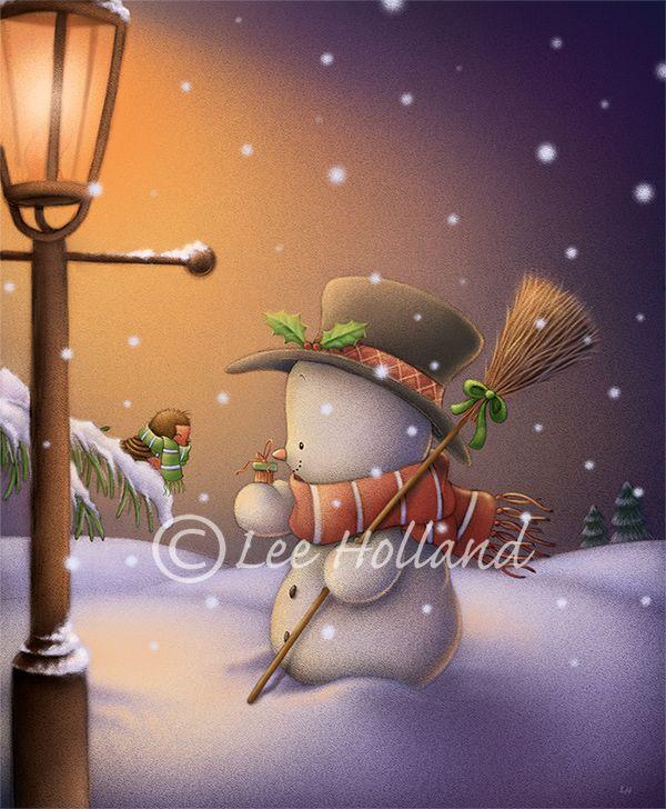 Snowman's christmas gift