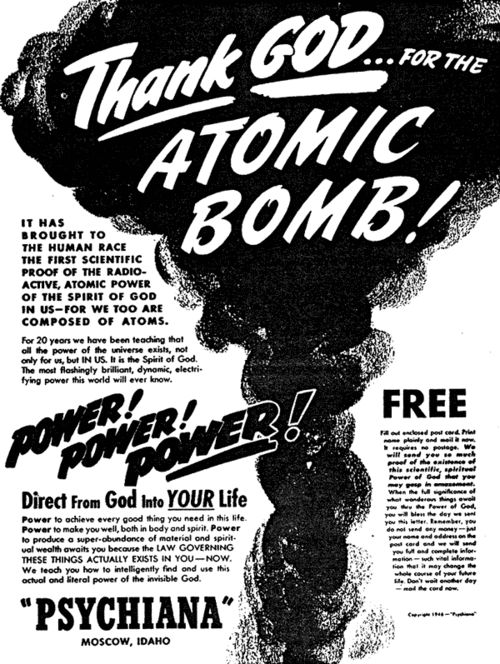 """thank god for the atomic bomb and other essays Thank god for the atom bomb and other essays by:  he moves from the inflammatory title piece on the morality of dropping the bomb on hiroshima to a hilarious disquisition on the """"naturist movement"""", to essays on the meaning of the indy 500 race, on george orwell, and on the shift in men's chivalric impulses toward their mothers."""