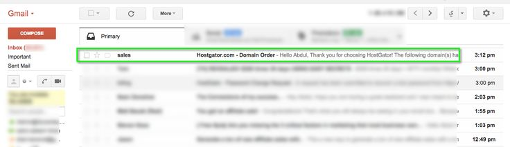 When your order is processed, you will receive an email with the details of the new registered domain