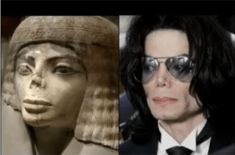 Old Egyptian statue and Michael Jackson (singer)  Prepare To Be Creeped Out By 28 Celebrities And Their Historic Doppelgangers • Page 2 of 5 • BoredBug