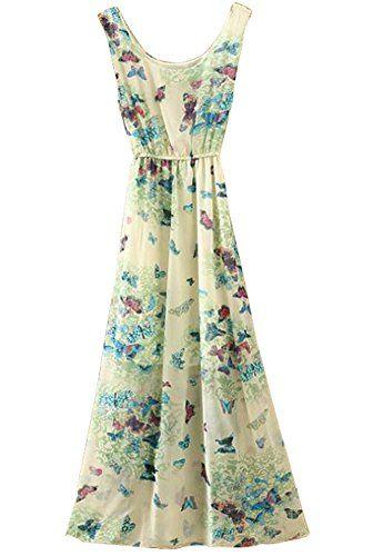 BININBOX Damen Sommerkleid Chiffonkleid Ärmellos Rundhals Strandkleid lang Geblümt in verschiedene Farben (Schmetterling) BININBOX http://www.amazon.de/dp/B01D4KVS0I/ref=cm_sw_r_pi_dp_1g5dxb1KNH9P0