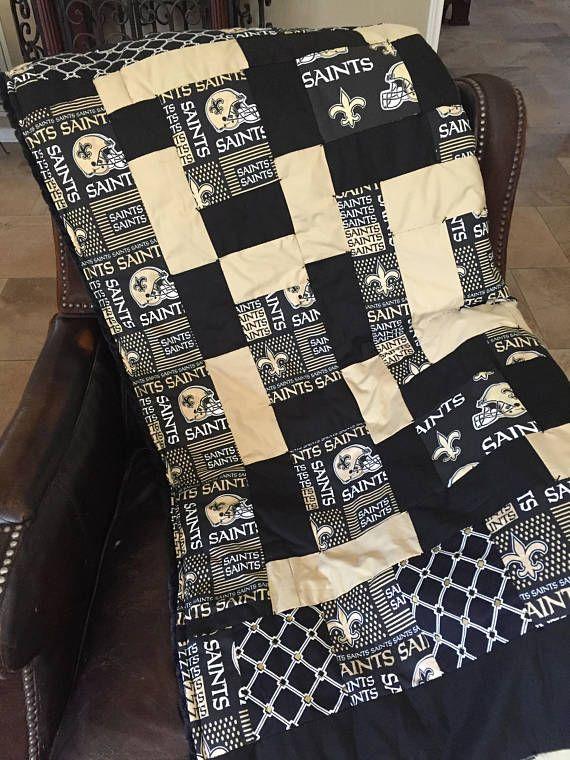 new style c5007 d8a2c New Orleans Saints Hand Stitched Quilt NFL Team Shop Minky ...
