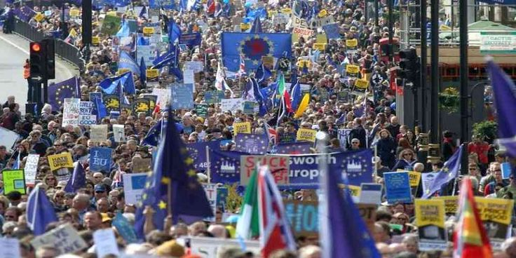 """Top News: """"UK POLITICS: 'Stop Brexit!' Thousands Protest in London Against Britain Leaving EU"""" - http://politicoscope.com/wp-content/uploads/2017/03/Brexit-News-Headline-Demonstrators-hold-a-banner-in-Parliament-Square-as-they-take-part-in-a-Unite-for-Europe-march-in-central-London-Britain.jpg - In bright sunshine, they waved EU flags and banners with slogans like """"So what's the Plan"""" and """"Stop Brexit"""" as they made their way to parliament.  on World Political News - http://po"""