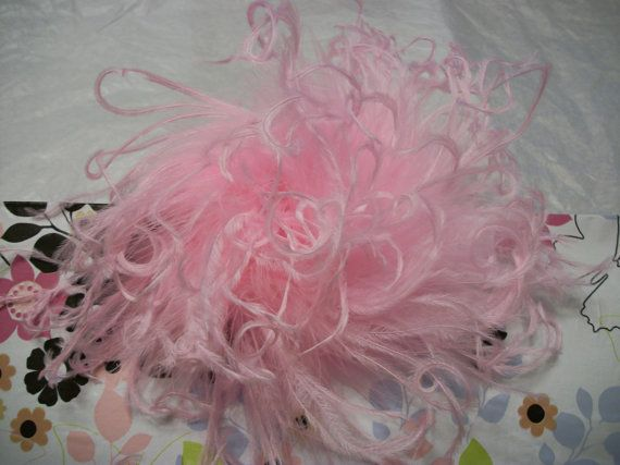 One Candy Pink Jumbo Curly Ostrich Feather by KenyasCreations2012, $5.50