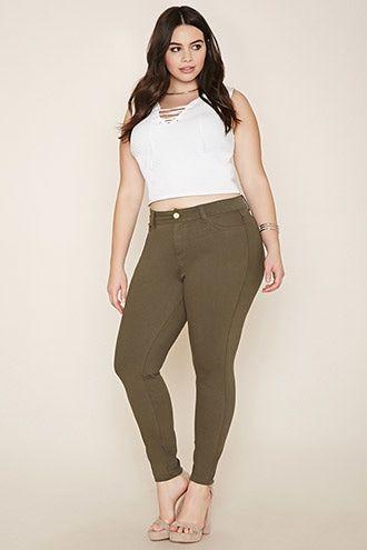 Plus Size Cotton-Blend Jeans