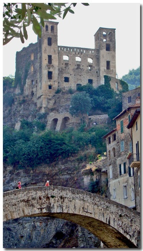 Dolceacqua  The Castle Doria and The Bridge Painted from Claude Monet in  in 1884