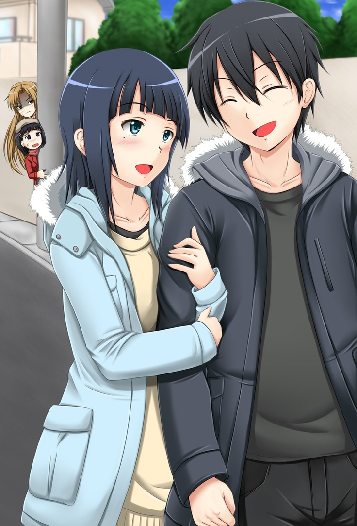 Sachi And Kirito LOlXD Look At Asuna The Other Girl In Background Sao