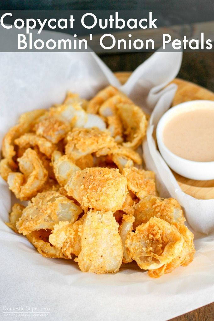 Outback Bloomin' Onion Petals taste just like the popular recipe! Pair them with the Bloom Sauce and everyone will be begging for more! via @domesticsuper