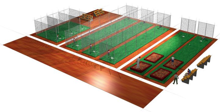 83 best images about baseball batting cages on pinterest for Design indoor baseball facility