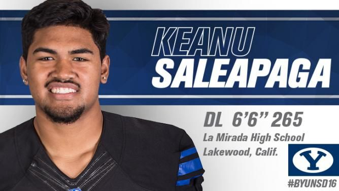 Keanu Saleapaga 2016 BYU Football Recruiting Class
