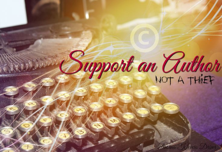 Support an Author - not a thief!