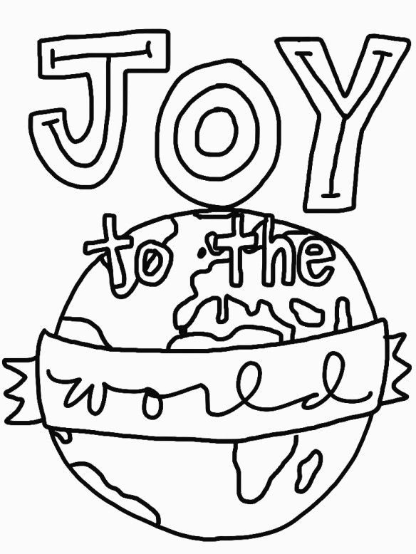 Christmas Joy Coloring Pages Sketch