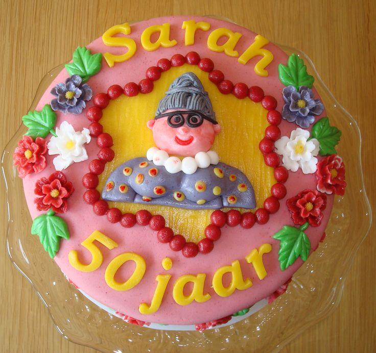 Sarah taart voor de 50 jarige Trees