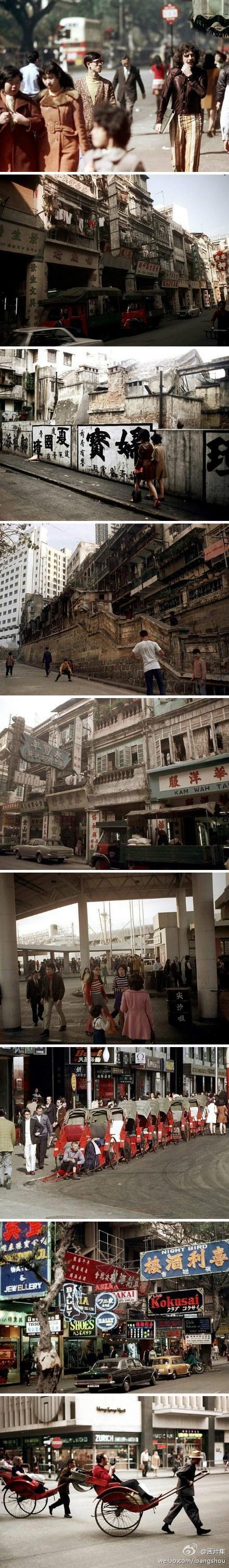 """40年前香港日常生活景象。摄影师尼克·德沃夫在1972年亚洲旅行期间抓拍了香港的日常生活。昔日的""""东方之珠""""远没有如今令人惊叹的天际线和光艳浮华的摩天大楼"""