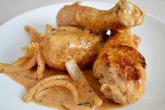 Piernas de pollo a la crema con páprika   Madeleine Cocina