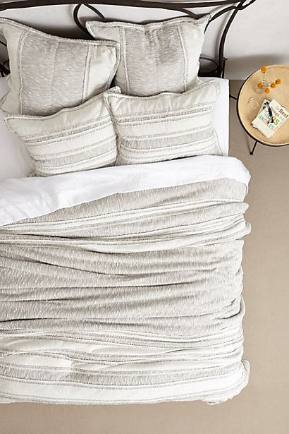 looks incredibly comfortable!!  Would pair well with some colorful pillows?   Marled Jersey Quilt #anthropologie