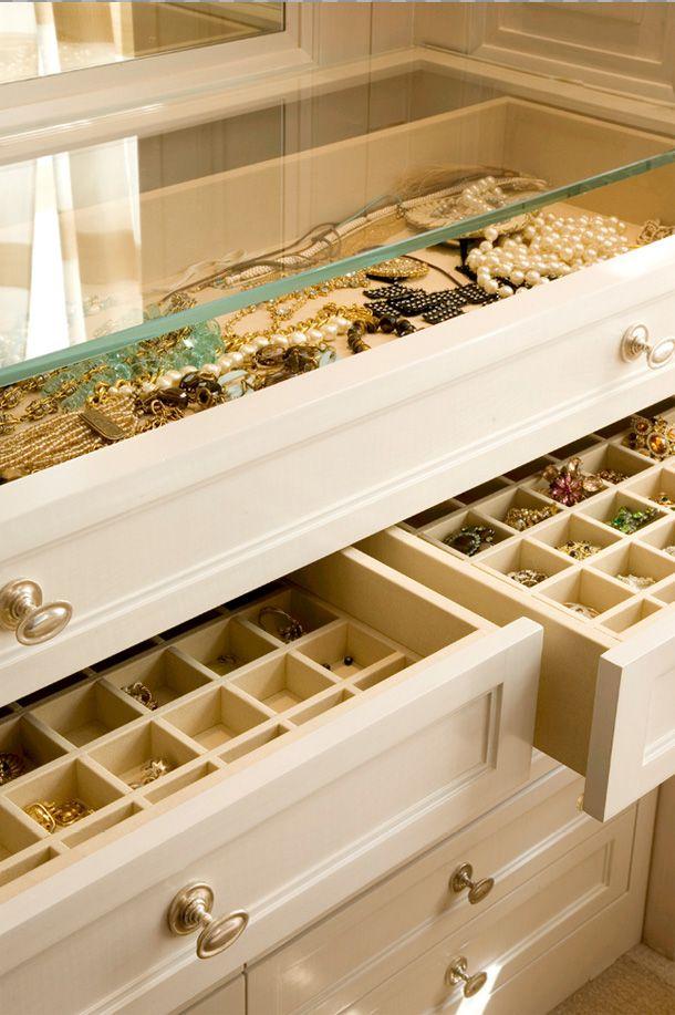 dresserIdeas, Tops Drawers, Jewelry Storage, Jewelry Display, Master Closets, Old Dressers, Jewelry Drawers, Jewelry Organic, Dreams Closets