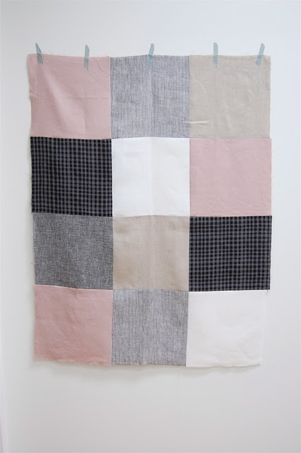 Simple quilt for a blank wall. Now all I need is more fabric that isn't Marquette colors.
