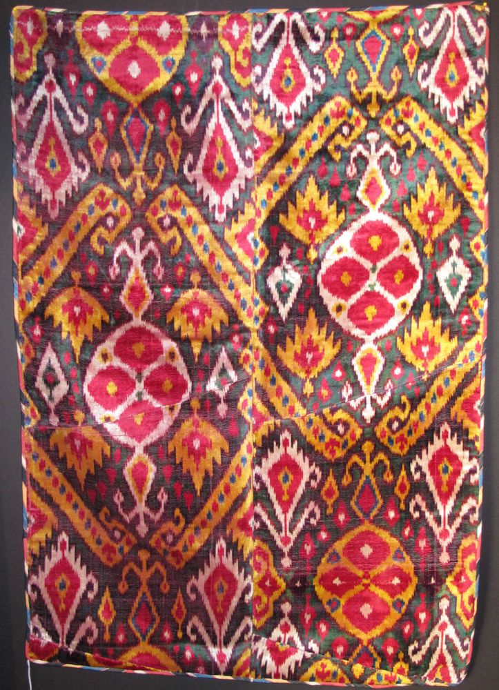 Uzbek IKAT velvet panel 19th.... The Arts scene in San ...