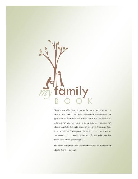 write a family history book software