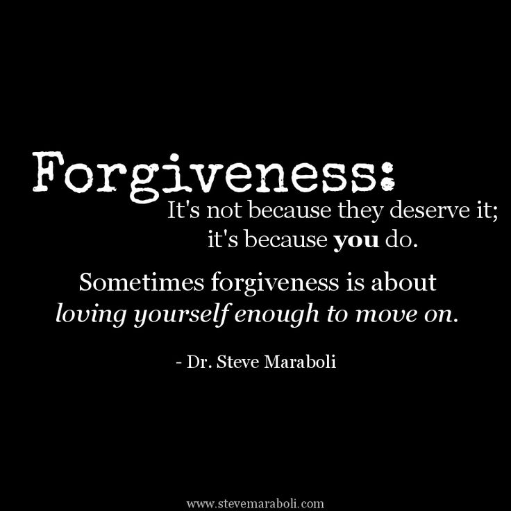 """Forgiveness: It's Not Because They Deserve It; It's"