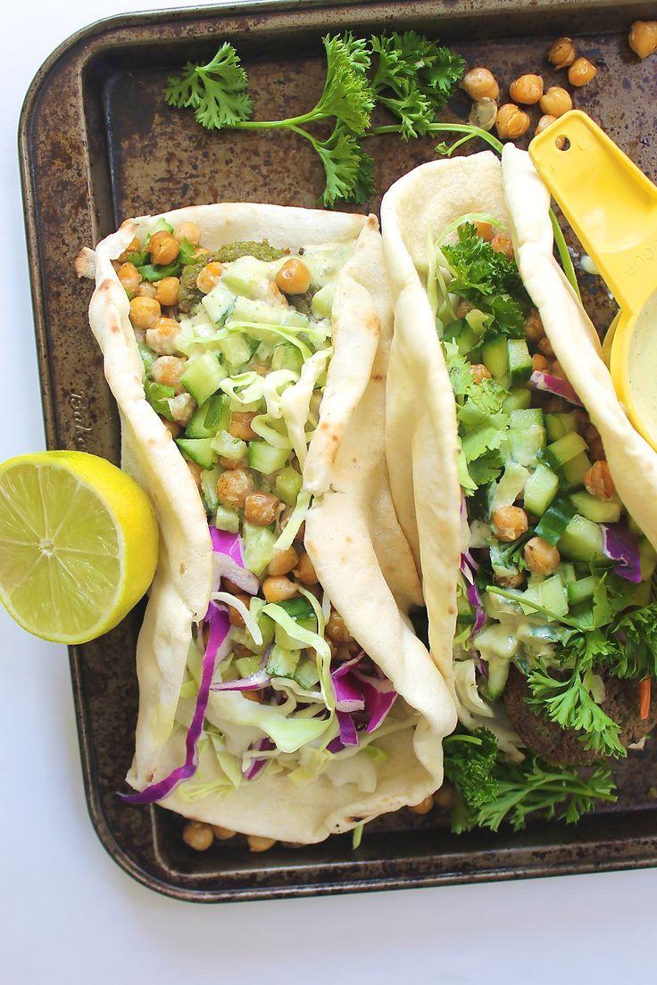 Vegetarian Falafel wraps - delicious!