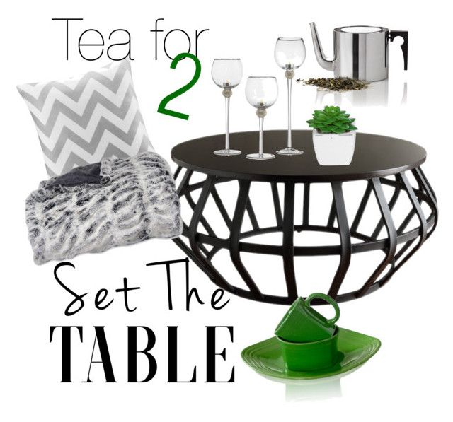 """""""Set The Table - Tea for 2"""" by inauniqe on Polyvore featuring interior, interiors, interior design, home, home decor, interior decorating, Tribecca Home, Fiesta, Intelligent Design and setthetable"""