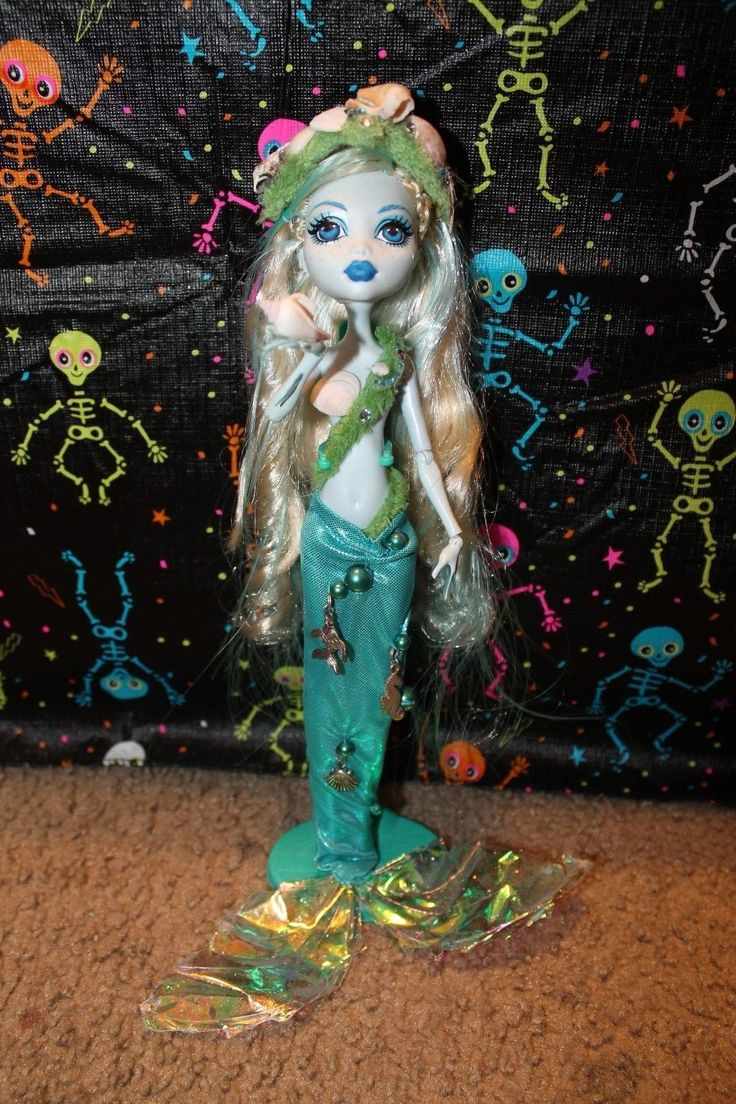 Monster High Custom Ooak Mermaid Doll Lagoona Repaint Highly Detailed   eBay