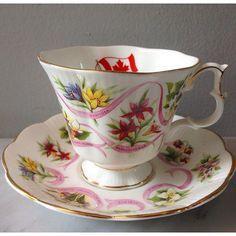 """Vintage Teacup by Royal Albert """"Canada"""""""