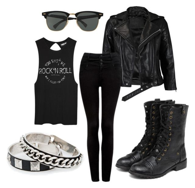 """""""Punk~"""" by neonpaint13 ❤ liked on Polyvore featuring VIPARO, Forever New, Ray-Ban, MANGO and yeswalker"""