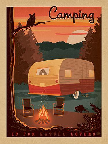 129 Best Camper Artwork Posters Images On Pinterest