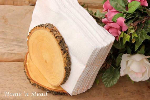 Rustic Napkin Holder Stand Country Kitchen Table by thatfamilyshop