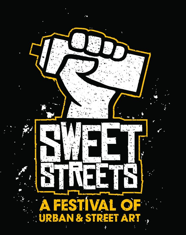 Poster for Sweet Streets - Melbourne Stencil Festival 2010, by Vitamin Studios