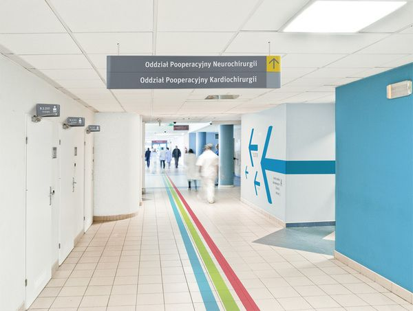 Hospital signage by Jarek Kowalczyk, via Behance
