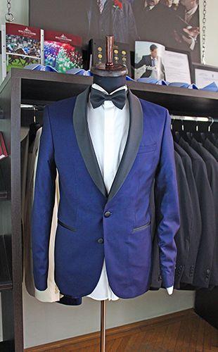 Gabriel Bespoke made to measure blue tuxedo. Cloth by Lanificio Cerruti.  www.gabrielbespoke.com