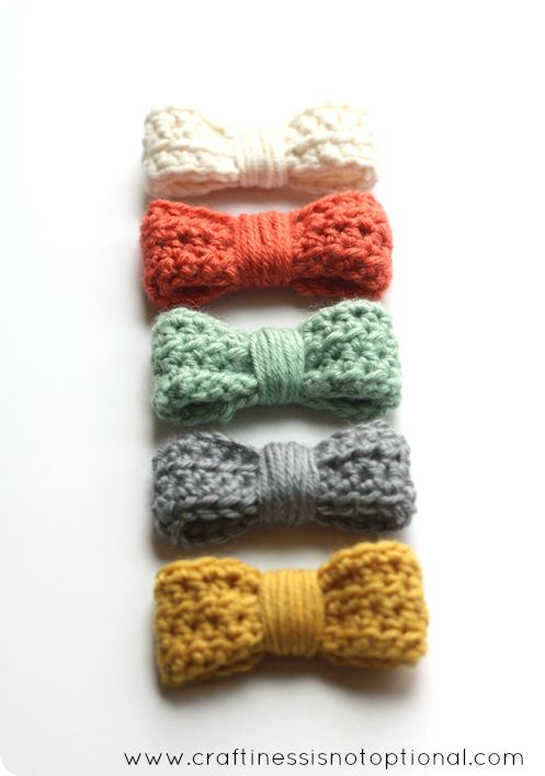 Easy crochet bow tutorial/pattern – Craftiness Is Not Optional