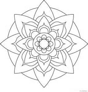 Lotus Flower Mandala To Color