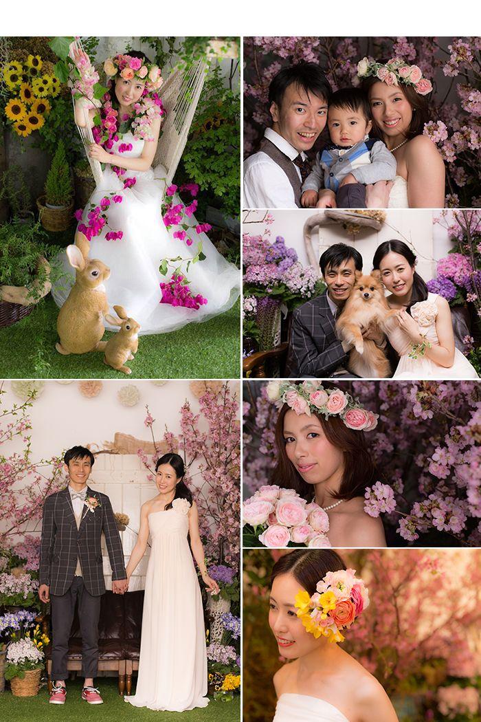 「お花に囲まれたフォトウエディング」をフラワーアーティストがプロデュース。結婚式をしていない方は、結婚写真の「後撮り」として一生の思い出に残る結婚写真が残せます。両親や友達も招待できるフォトウエディングです。