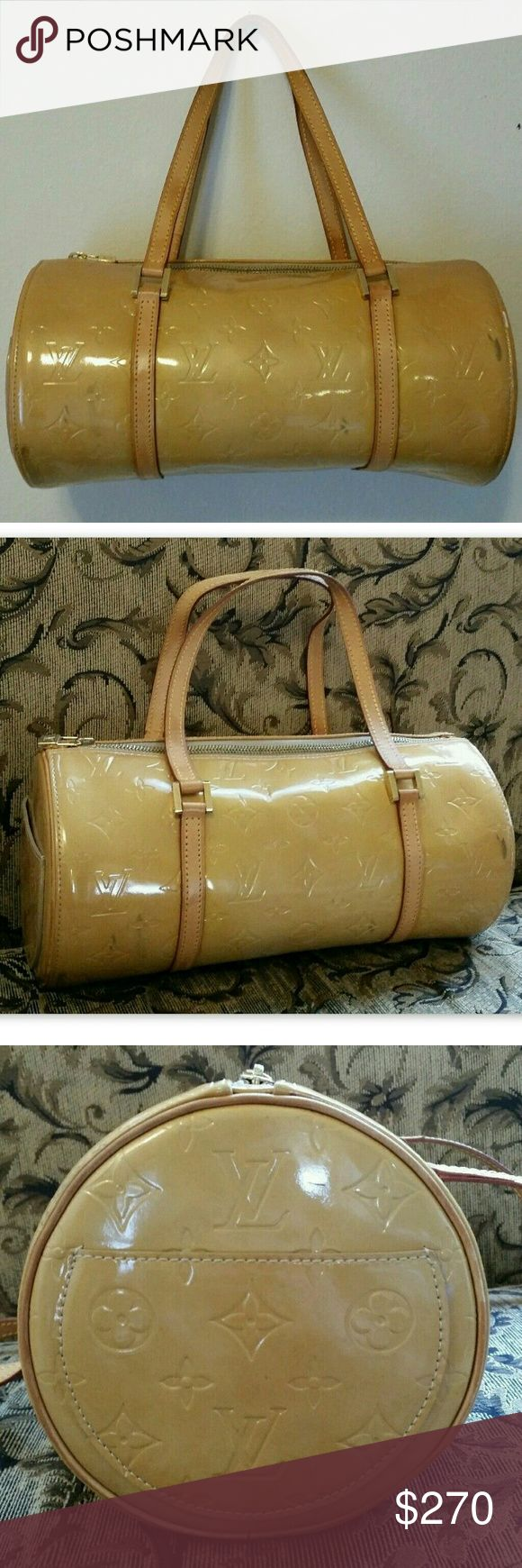 LOUIS VUITTON Auth Vernis Bedford Handbag Yellow (With