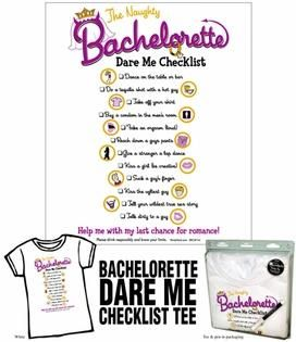 Bachelorette Dare Me Check List Tee Shirt [IC00473] - $25.63 : VibratorsBuy, Just Have Fun With Your Toys