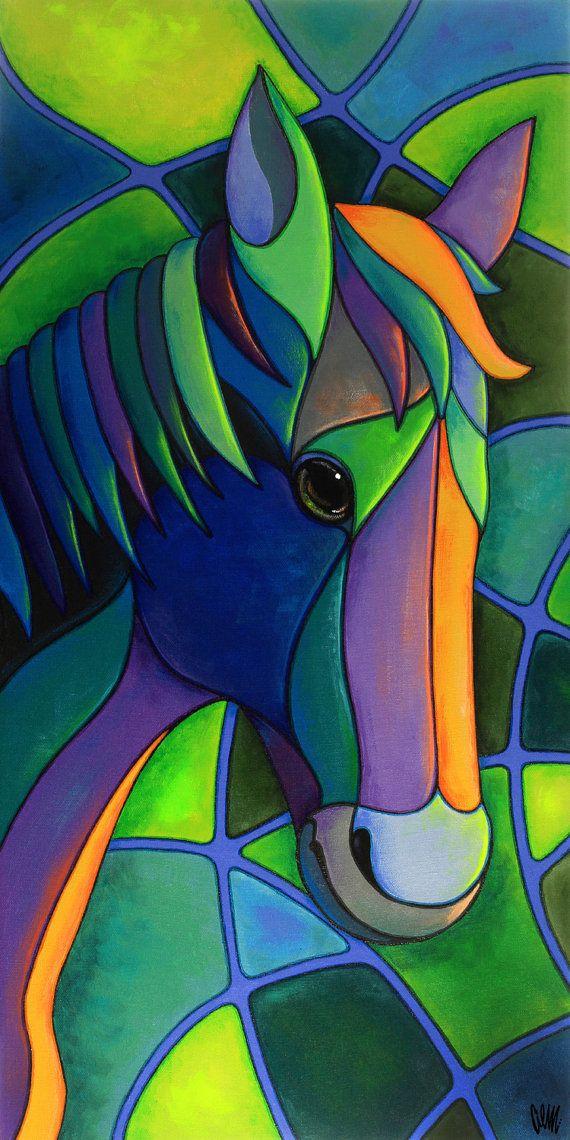 Cheval d'une couleur différente par AEMgallery sur Etsy