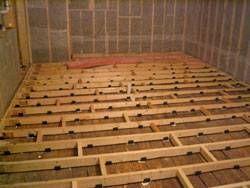 Building a home recording studio floor