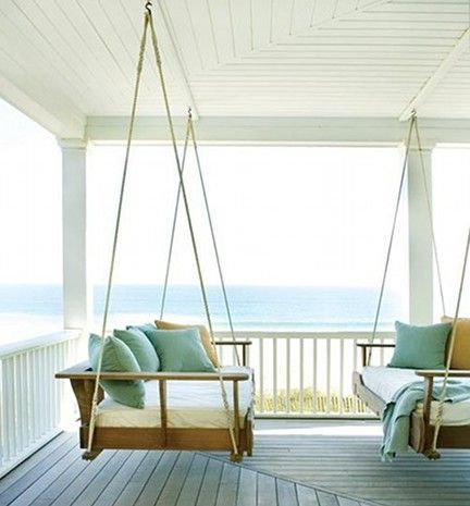 Swinging Porch Beds 2 | Atticmag | Kitchens, Bathrooms, Interior Design